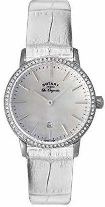 Rotary Women's ls90050/07 Analog Display Swiss Quartz White Watch