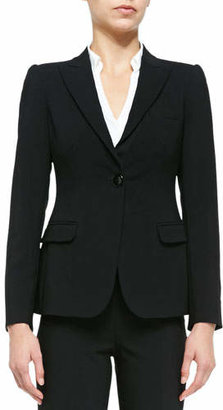 Armani Collezioni Featherweight Wool One-Button Jacket