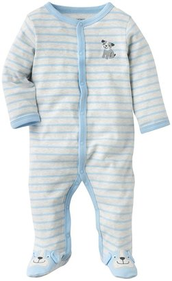 Carter's striped dog footed pajamas - baby