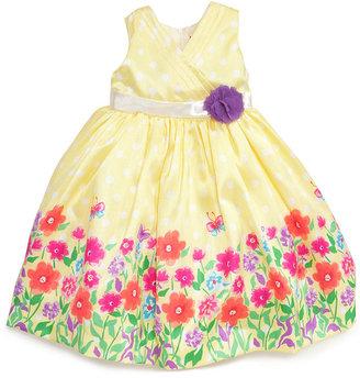 Nannette Little Girls' Printed Shantung Dress