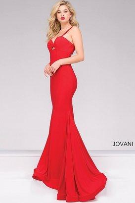 Jovani Jersey Sweetheart Neckline Fitted Prom Dress 49251
