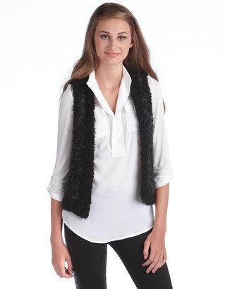 Kensie Faux Fur Open-Front Vest