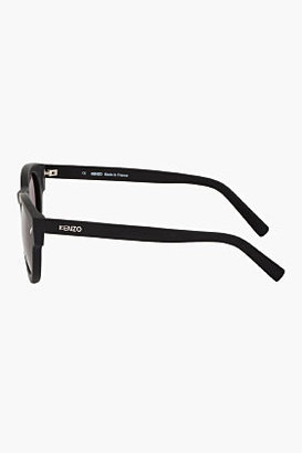 Kenzo Matte Black Round Sunglasses