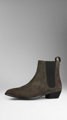 Burberry Suede Chelsea Boots