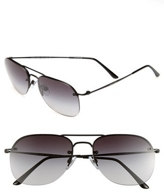 Giorgio Armani 55mm Aviator Sunglasses