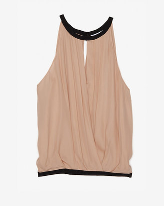 Chelsea Flower Exclusive Sleeveless Pleated Keyhole Top