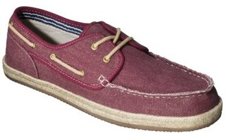 Merona Men's Tate Canvas Boat Shoe - Red