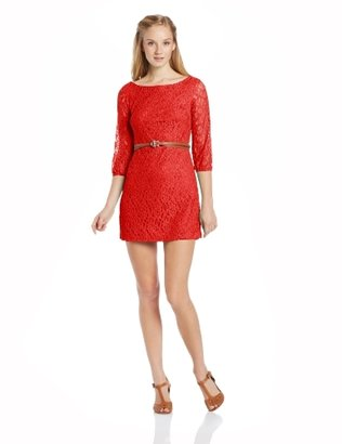My Michelle Juniors Keyhole Lace Dress