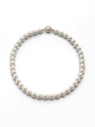 "Majorica 10MM White Pearl Necklace/18"""