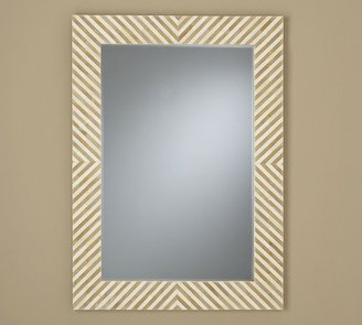 Pottery Barn Chevron Bone Mirror