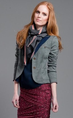 Tracy Reese Plenty Charcoal Reversible Blazer
