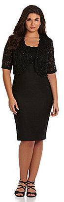 R & M Richards Woman Lace-Top Jacket Dress