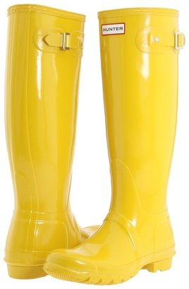 Hunter Original High Gloss'11 (Vintage Yellow) - Footwear