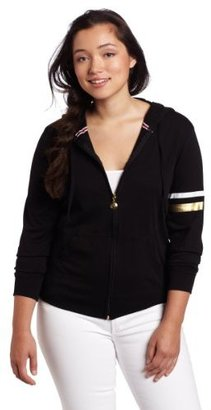 Southpole Juniors' Plus-Size Jersey Hoodie With Printed 91 On Back