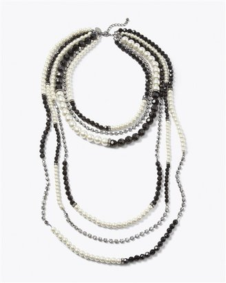 White House High-Low Segmented Necklace
