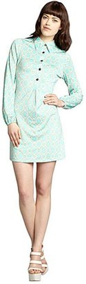 Julie Brown JB by mint and cream printed jersey knit 'Elliot' shirt dress