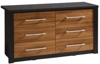 Albany Glass-topped 3 + 3 Chest Of Drawers