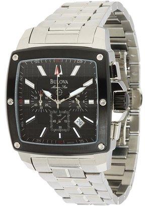 Bulova Mens Marine Star - 98B105 (Stainless Steel Band/Black Face) - Jewelry