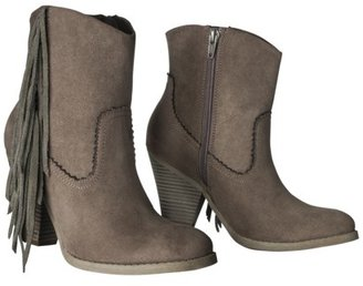 Mossimo Women's Supply Co.Karmi Fringe Western Ankle Boot - Taupe