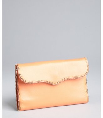 Rebecca Minkoff coral leather 'Mab Wallet on a Chain' convertible wallet