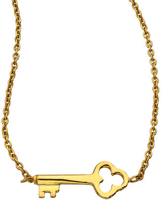 Julie Vos Gold Key Pendant Necklace