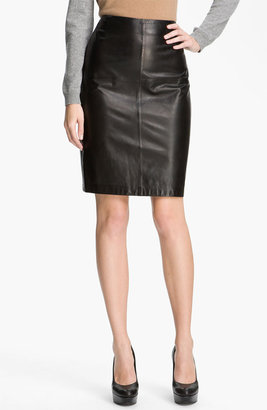 Boss Black Leather Skirt