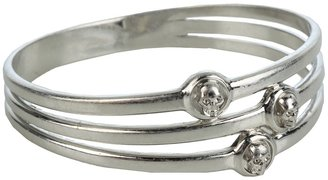 Alexander McQueen 301794J160N 8198 (Dark Silver Metallic) - Jewelry