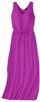 Merona Women's V- Neck Tie Waist Maxi Dress - Assorted Colors