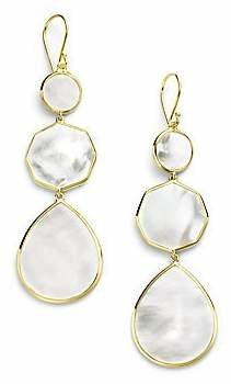 Ippolita Women's Polished Rock Candy Mother-Of-Pearl & 18K Yellow Gold Crazy 8's Drop Earrings