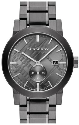 Burberry Check Stamped Bracelet Watch, 42Mm $795 thestylecure.com