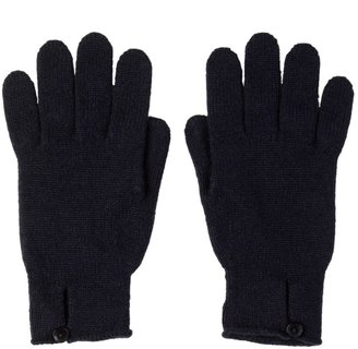 Johnstons of Elgin Button Loop Womens Cashmere Gloves Navy