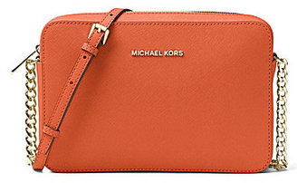 MICHAEL Michael Kors Jet Set Travel Large East/West Chain Strap Cross-Body Bag $148 thestylecure.com