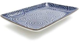 "Sur La Table Kotobuki Blue Spirals Sushi Plate, 8"" x 5¼"""