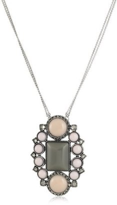 Rachel Leigh Silver Plated Statement Pendant Necklace