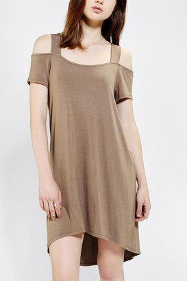 Sparkle & Fade Knit Cross-Back Cold Shoulder Dress