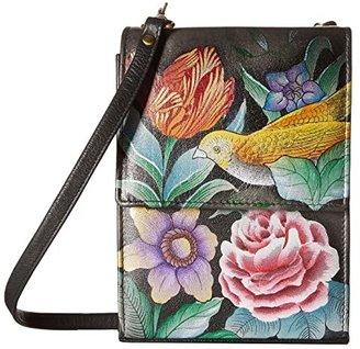 Anuschka Mini Sling Organizer 412 (Vintage Bouquet) Cross Body Handbags