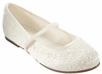 John Lewis & Partners Children's Fairy Mary Jane Bridesmaids' Shoes, Ivory