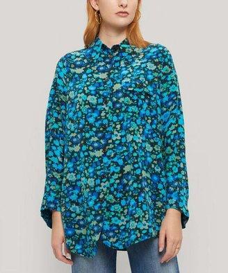 Ganni Silk Floral Shirt
