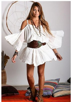 Jens Pirate Booty El Matador Mini Dress in White as Seen On Vanessa Hudgens