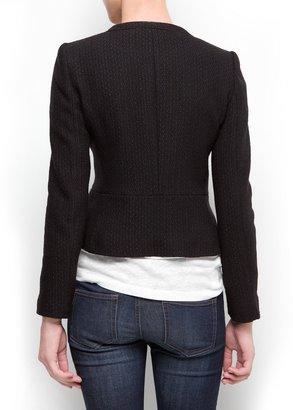 MANGO Military inspired bouclé jacket