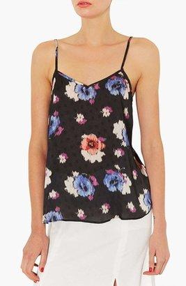 Topshop Floral V-Neck Camisole