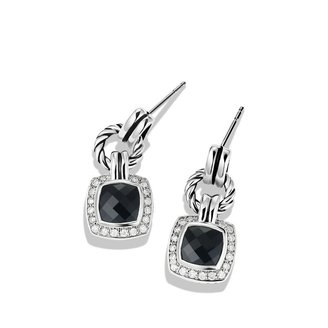 David Yurman Renaissance Drop Earrings with Black Onyx and Diamonds