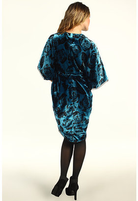 Winter Kate Printed Velvet Kimono