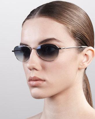 Oliver Peoples Aero Metal Sunglasses, Sapphire