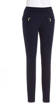 Ivanka Trump Skinny Ponte Pants with Zipper Details