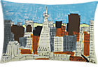 CB2 San Francisco Downtown Pillow With Feather-Down Insert.