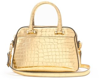 Milly Gold Croc Small Satchel
