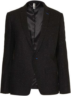 Topshop Premium Neppy Skinny Blazer