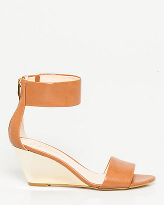 Le Château Leather Ankle Strap Wedge Sandal