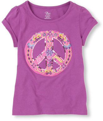 Children's Place Roll sleeve graphic tee